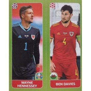 Panini EURO 2020 Sticker Nr 092 Hennessey Davies