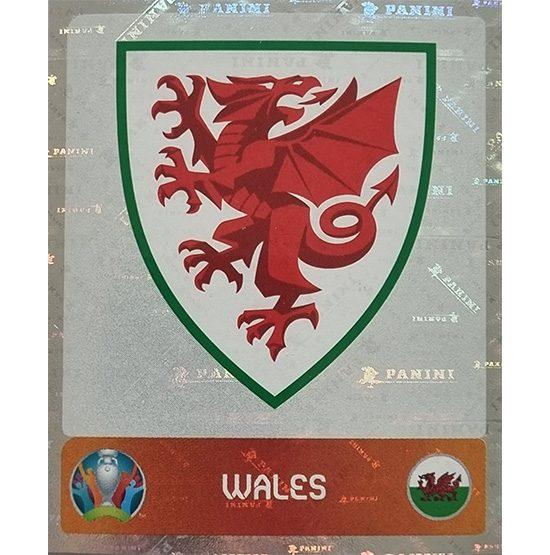 Panini EURO 2020 Sticker Nr 098 Wales Logo