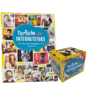 Panini Tierische Internetstars Sticker - Stickeralbum + 1 Display je 50 Tüten