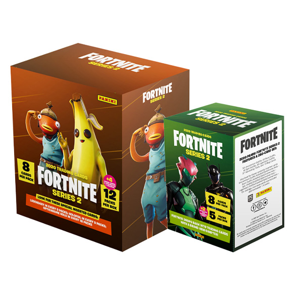 Panini Fortnite Series 2 Bundle 1x Mega Box+ 1x Blaster Box