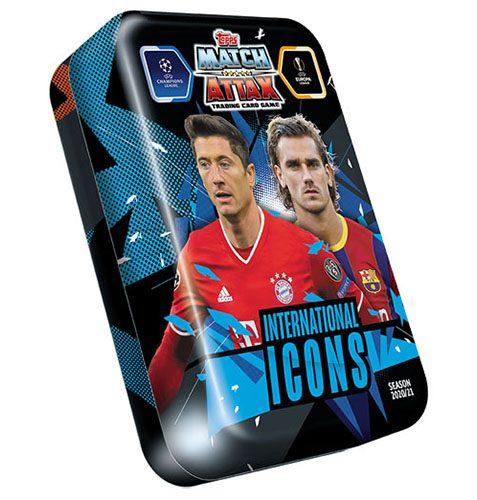 Topps Champions League Match Attax 2020/21 Mega Tin International Icons