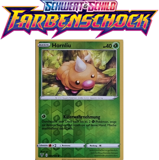 Pokémon Farbenschock 001/185 Hornliu REVERSE HOLO