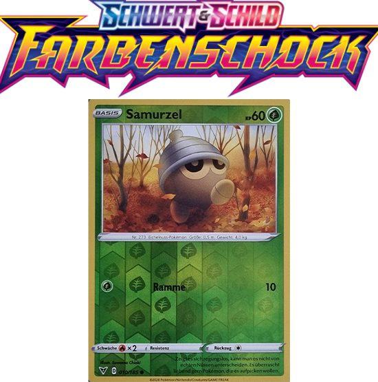 Pokémon Farbenschock Samurzel 010/185 REVERSE HOLO