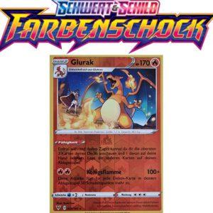Pokémon Farbenschock Glurak 025/185 REVERSE HOLO