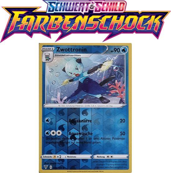 Pokémon Farbenschock Zwottronin 034/185 REVERSE HOLO