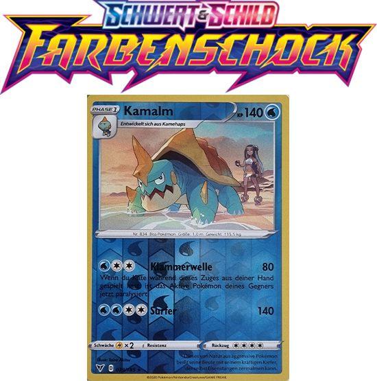 Pokémon Farbenschock Kamalm 039/185 REVERSE HOLO