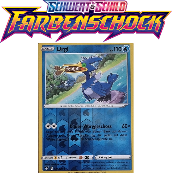 Pokémon Farbenschock Urgl 040/185 REVERSE HOLO