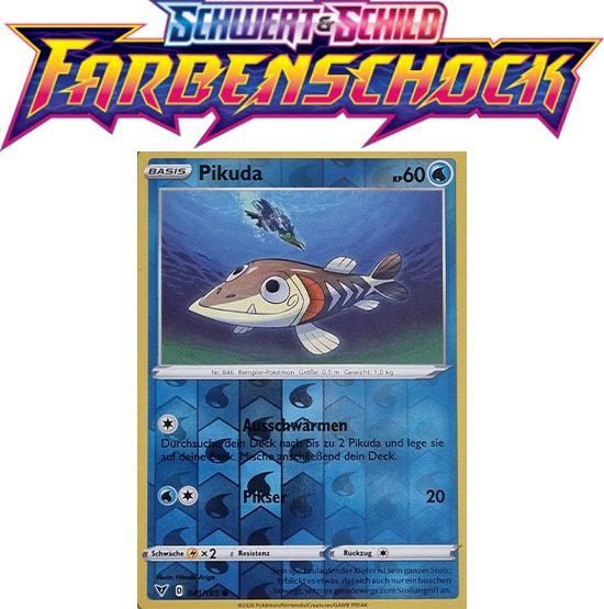 Pokémon Farbenschock Pikuda 041/185 REVERSE HOLO
