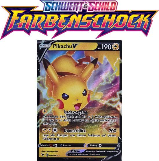 Pokémon Farbenschock Pikachu-V 043/185
