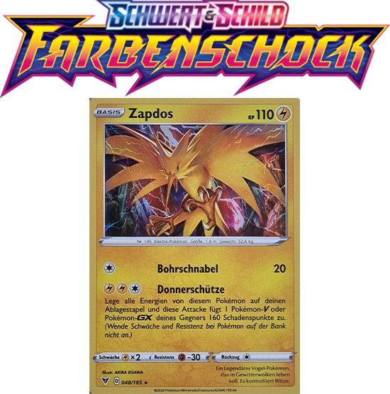 Pokémon Farbenschock Zapdos 048/185 HOLO