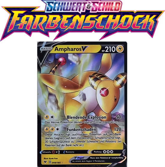 Pokémon Farbenschock Ampharos-V 049/185