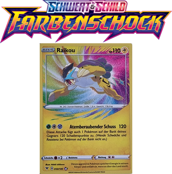 Pokémon Farbenschock Raikou 050/185 AMAZING