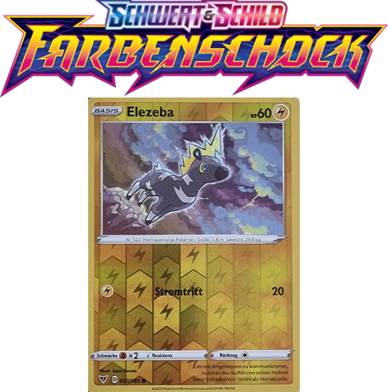 Pokémon Farbenschock Elezeba 053/185 REVERSE HOLO