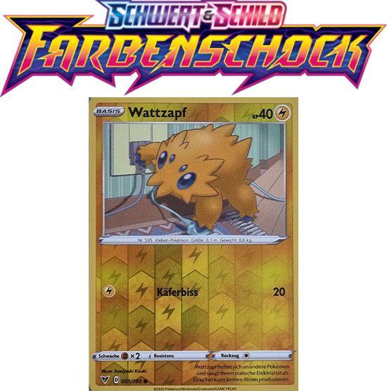 Pokémon Farbenschock Wattzapf 055/185 REVERSE HOLO