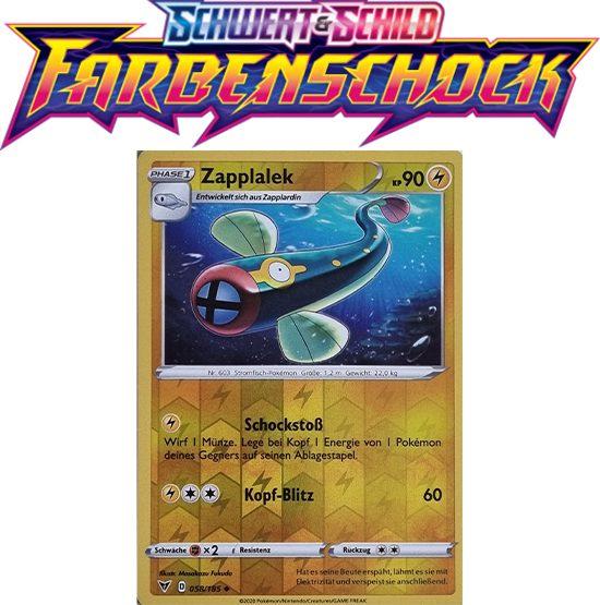 Pokémon Farbenschock Zapplalek 058/185 REVERSE HOLO