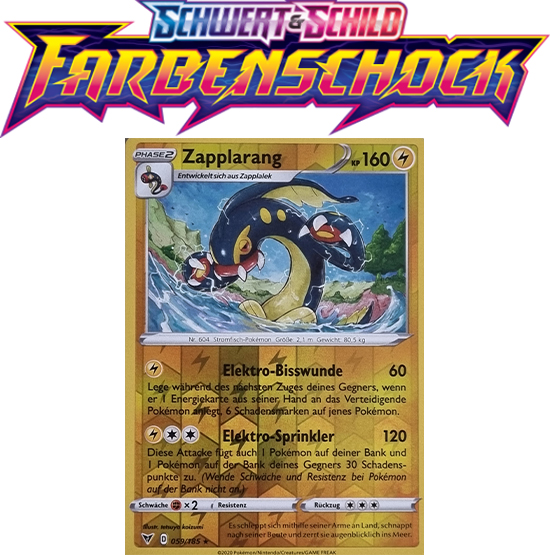 Pokémon Farbenschock Zapplarang 059/185 REVERSE HOLO