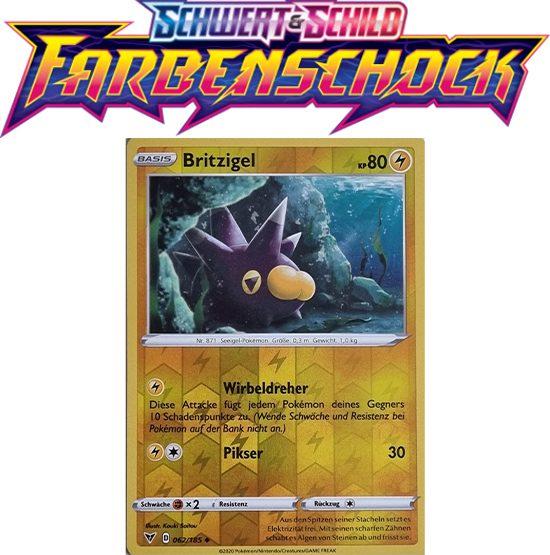 Pokémon Farbenschock Britzigel 062/185 REVERSE HOLO
