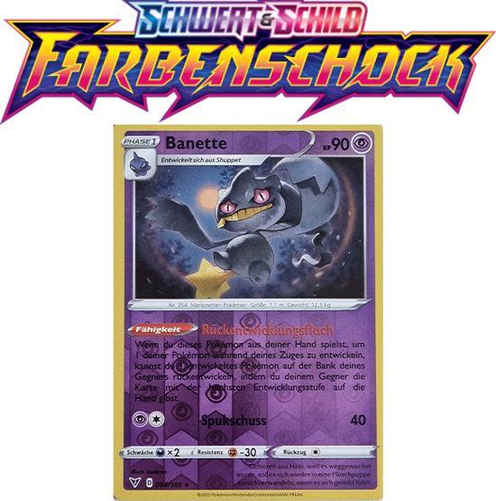 Pokémon Farbenschock Banette 068/185 REVERSE HOLO