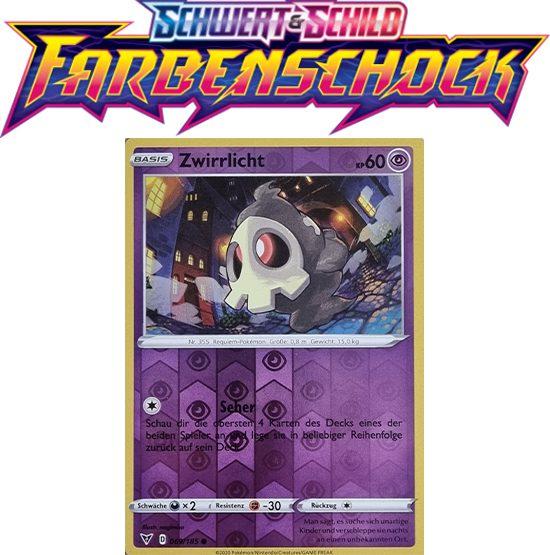 Pokémon Farbenschock Zwirrlicht 069/185 REVERSE HOLO
