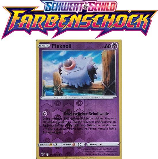 Pokémon Farbenschock Fleknoil 073/185 REVERSE HOLO