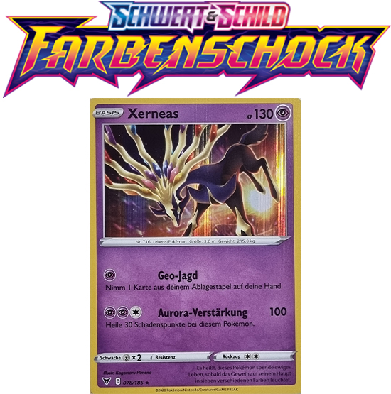 Pokémon Farbenschock Xerneas 078/185 HOLO