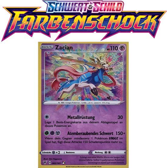 Pokémon Farbenschock Zacian 082/185 AMAZING