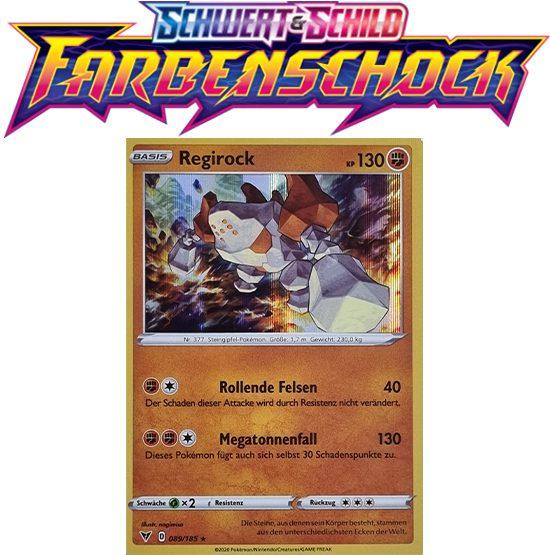 Pokémon Farbenschock Regirock 089/185 HOLO