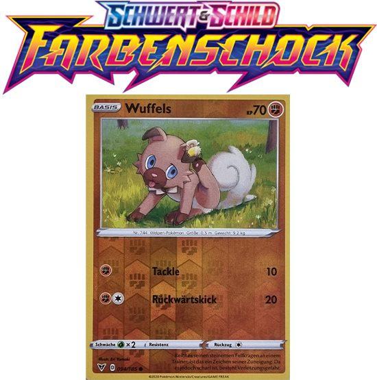 Pokémon Farbenschock Wuffels 094/185 REVERSE HOLO