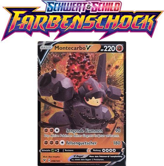 Pokémon Farbenschock Montecarbo-V 098/185