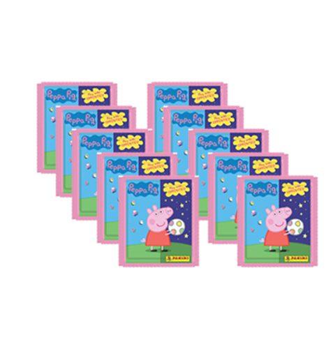Panini Peppa Pig Spiele mit Gegensätzen Sticker - 10x Tüten