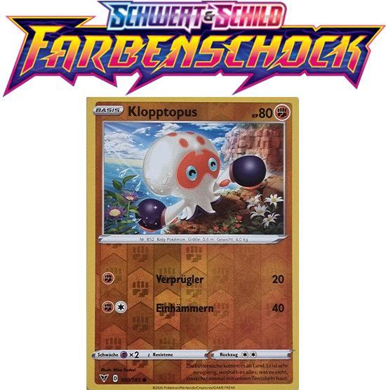 Pokémon Farbenschock Klopptopus 100/185 REVERSE HOLO