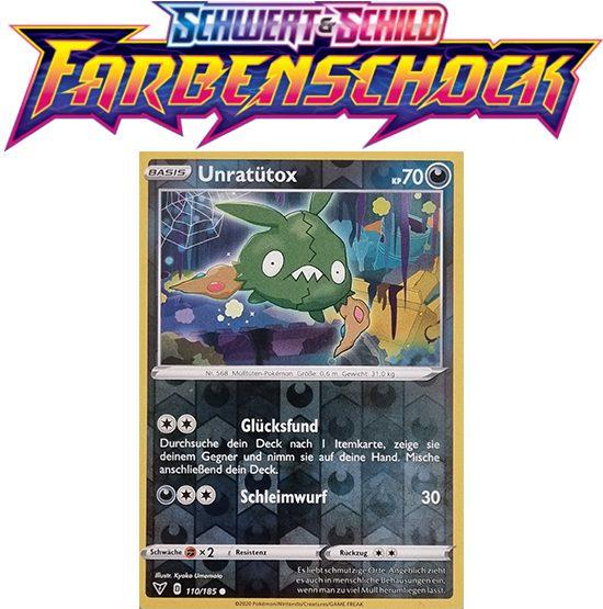 Pokémon Farbenschock Unratütox 110/185 REVERSE HOLO