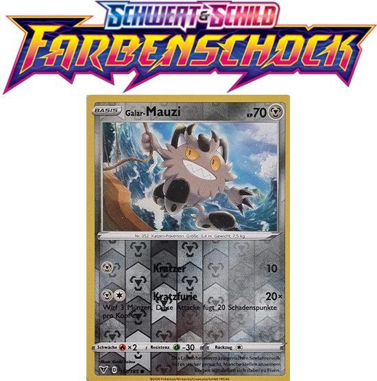 Pokémon Farbenschock Galar-Mauzi 112/185 REVERSE HOLO