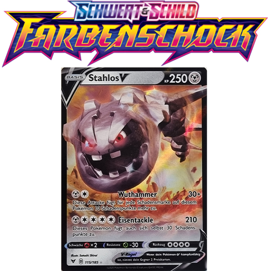 Pokémon Farbenschock Stahlos-V 115/185