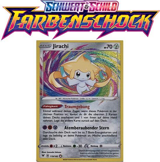 Pokémon Farbenschock Jirachi 119/185 AMAZING