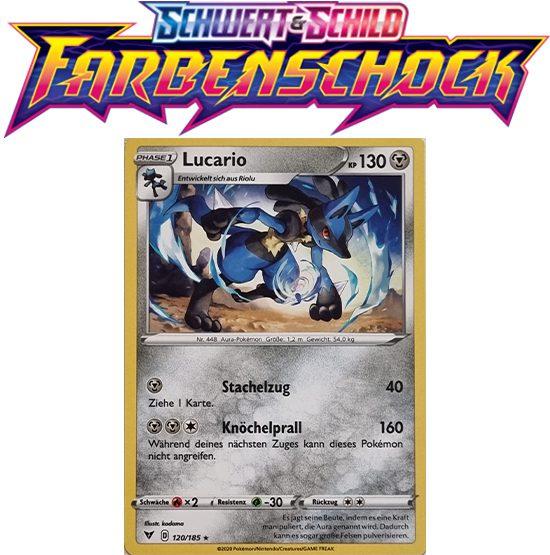 Pokémon Farbenschock Lucario 120/185 REVERSE HOLO