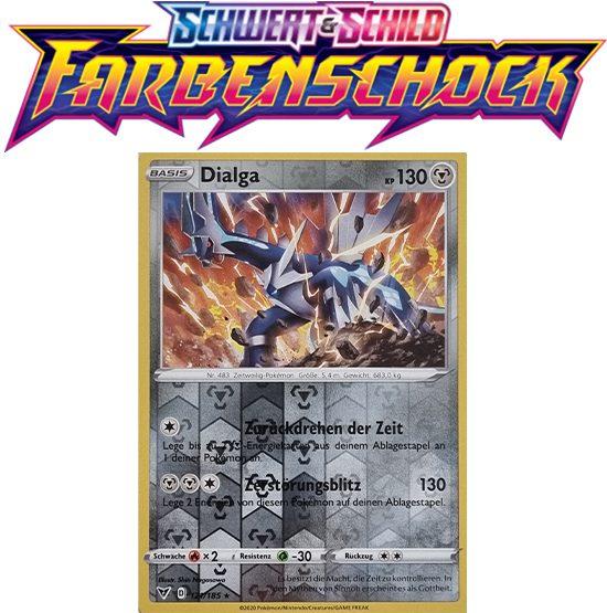 Pokémon Farbenschock Dialga 121/185 HOLO