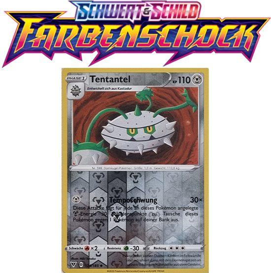 Pokémon Farbenschock Tentantel 124/185 REVERSE HOLO