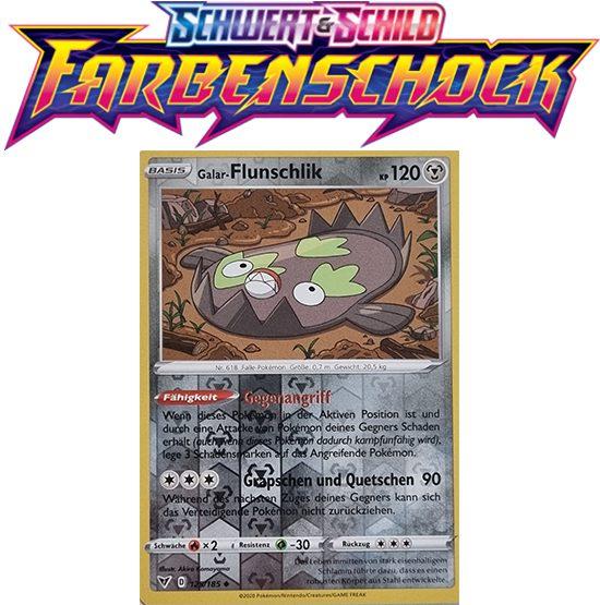 Pokémon Farbenschock Galar-Flunschlik 125/185 REVERSE HOLO