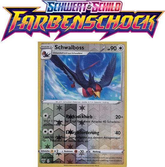 Pokémon Farbenschock Schwalboss 134/185 REVERSE HOLO