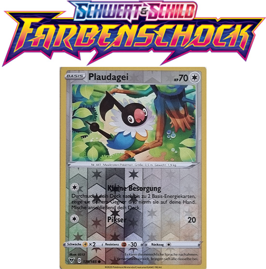 Pokémon Farbenschock Plaudagei 139/185 REVERSE HOLO