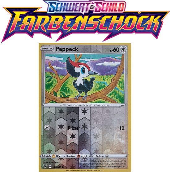 Pokémon Farbenschock Peppeck 143/185 REVERSE HOLO