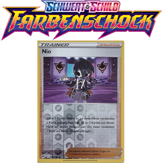 Pokémon Farbenschock Nio 146/185 REVERSE HOLO