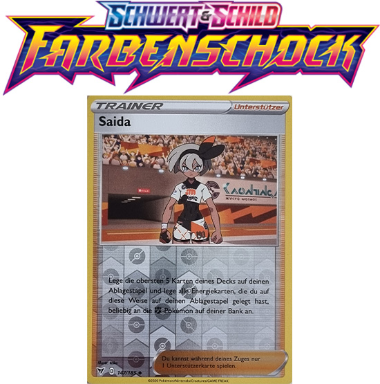 Pokémon Farbenschock Saida 147/185 REVERSE HOLO