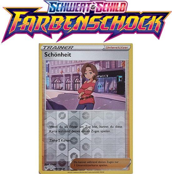 Pokémon Farbenschock Schönheit 148/185 REVERSE HOLO