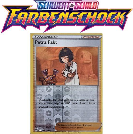 Pokémon Farbenschock Petra Fakt 149/185 REVERSE HOLO