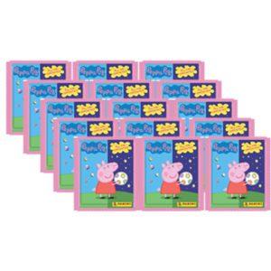 Panini Peppa Pig Spiele mit Gegensätzen Sticker - 15x Tüten