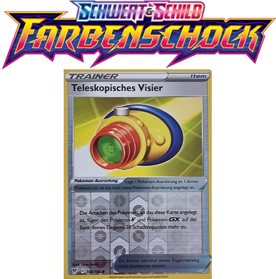 Pokémon Farbenschock Teleskopisches Visier 160/185 REVERSE HOLO