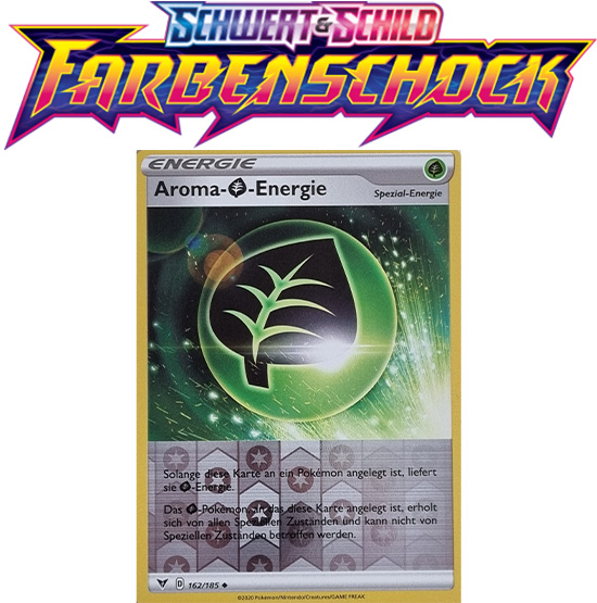 Pokémon Farbenschock Aroma- Pflanze-Energie 162/185 REVERSE HOLO