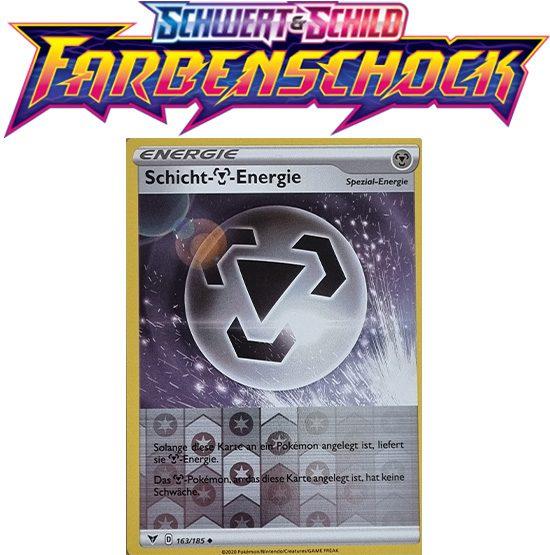 Pokémon Farbenschock Schicht- Metall-Energie 163/185 REVERSE HOLO